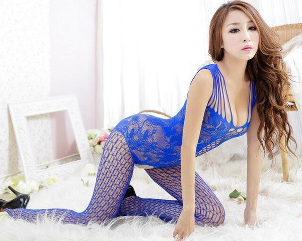 Women Intimates Mesh Bodysuits Spandex Hollow Out Fishnet Stockings Full Body Women Slips Hot romper