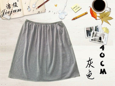 Women Petticoat underskirt Pure New Solid Skirt Modal Mini Skirts Sexy Lady Slips Skirts Vestidos Summer Casual underdress