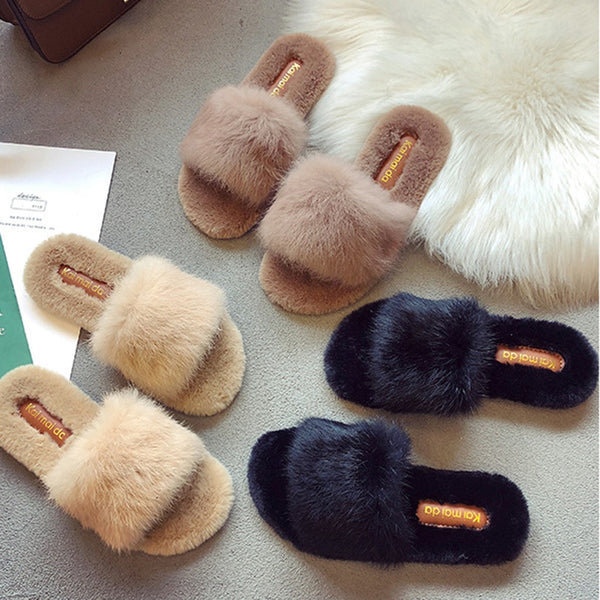 Women Warm Solid Soft Comfort Plush Soft Slippers Indoors Floor Bed Room Shoes Fashion Casual Ladies Shoes zapatos de mujer #9