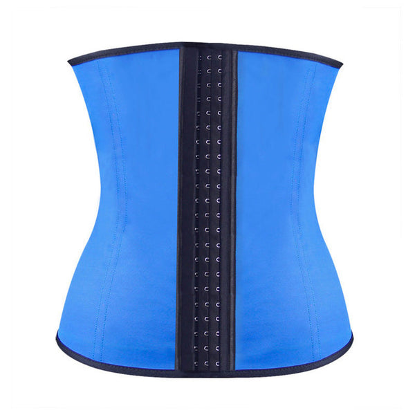 Women corset latex waist trainer 4 Steel Bones women sport underbust gorset cincher waist latex corset