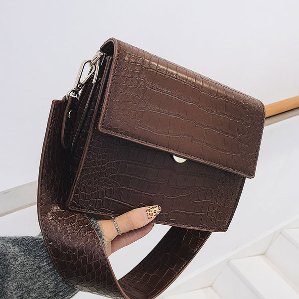 Women's Designer Luxury Handbag Fashion New High quality PU Leather Women Handbags Crocodile pattern Shoulder Messenger Bag