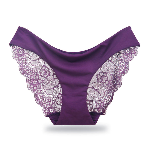 Women's Sexy Lace Panties Seamless Underwear Briefs for Ladies Panty Cotton Transparent Panties low-Rise Plus Size High Quality
