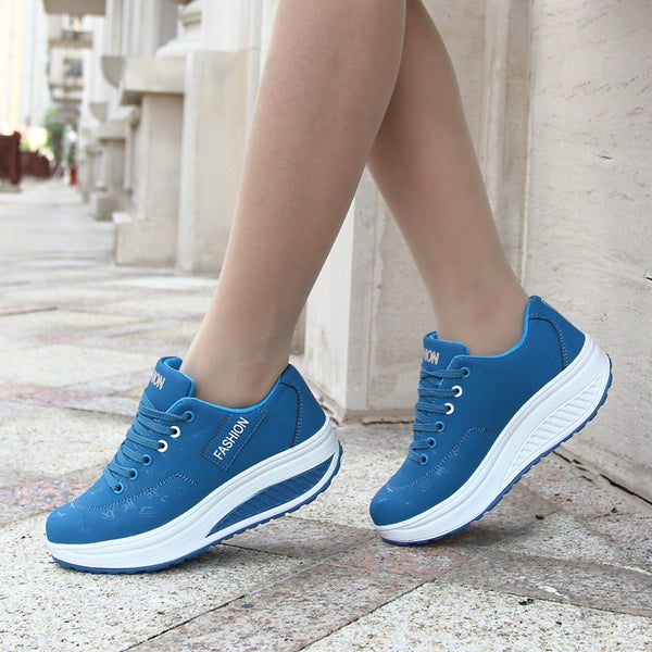 Women sneakers solid wedge casual shoes woman sneakers women running shoes woman lace-up female sneakers zapatillas mujer