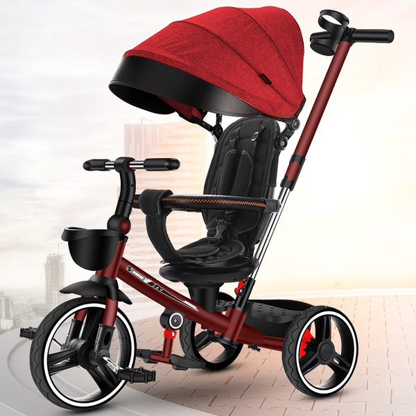 XMQ8018children's tricycle  Folding children's tricycle lightweight children's bicycle baby stroller baby infant stroller doll