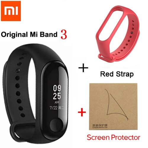 Xiaomi Mi Band 3 / mi band 2 Smart Wristband Fitness Bracelet MiBand Big Touch Screen OLED Message Heart Rate Time Smartband