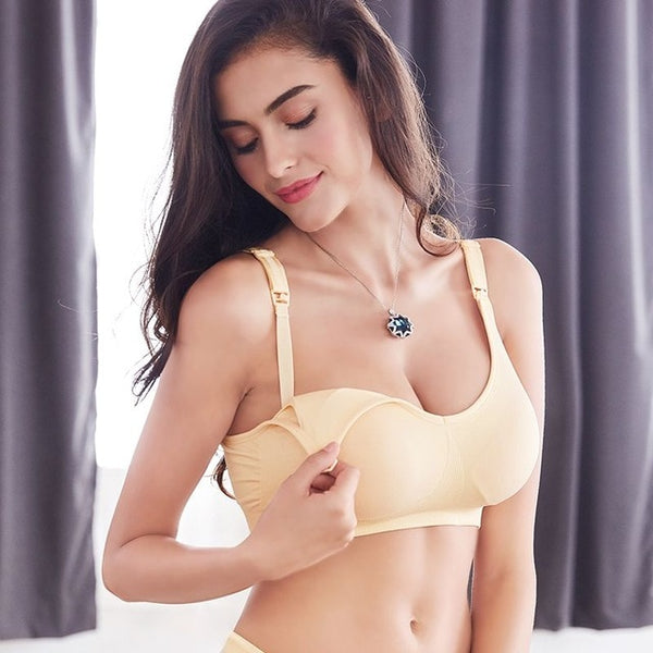 YATEMAO Breastfeeding Bra Pregnancy Clothes Maternity Nursing Bra Feeding Bra for Soutien Gorge Allaitement Women Underwear