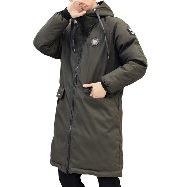 long parkas winter jacket men New warm Windproof Casual Outerwear Padded Cotton Coat Big Pockets High Quality Parkas Men