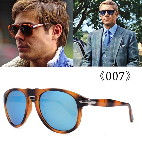 luxury Classic Vintage Steve 007 Daniel Craig Style Polarized Sunglasses Men Driving Brand Design Sun Glasses Oculos 649