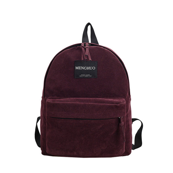 Women Backpack Preppy Suede Backpacks Girls School Bags Vintage Backpack Travel Bag Female Backpack Burgundy Gray Black Mochila