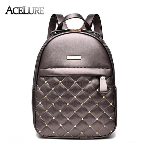 Women Backpack Hot Sale Fashion Causal bags High Quality bead female shoulder bag PU Leather Backpacks for Girls mochila