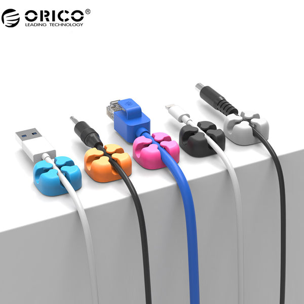 10Pcs Colorful Cable Winder Wire Storage Silicon Cable manager Holder Desk Tidy Organizer For Digital Cable