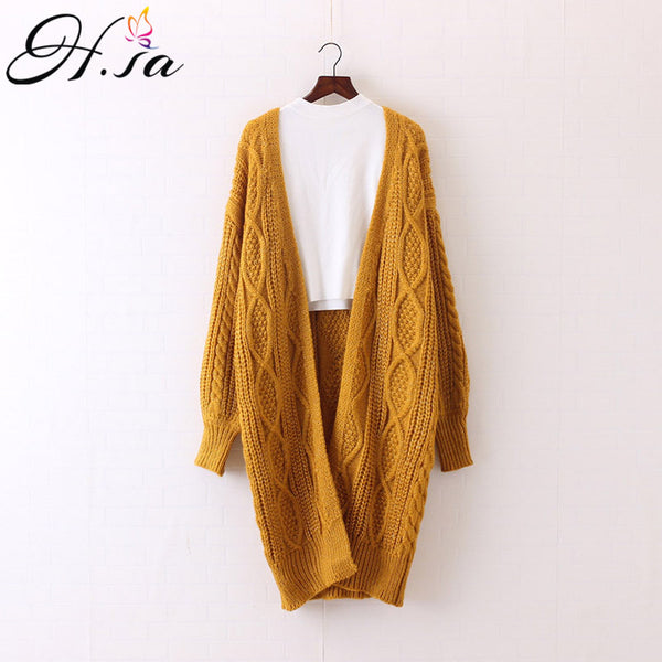 Women Long Cardigans Autumn Winter Open Stitch Poncho Knitting Sweater Cardigans V neck Oversized Cardigan Jacket Coat