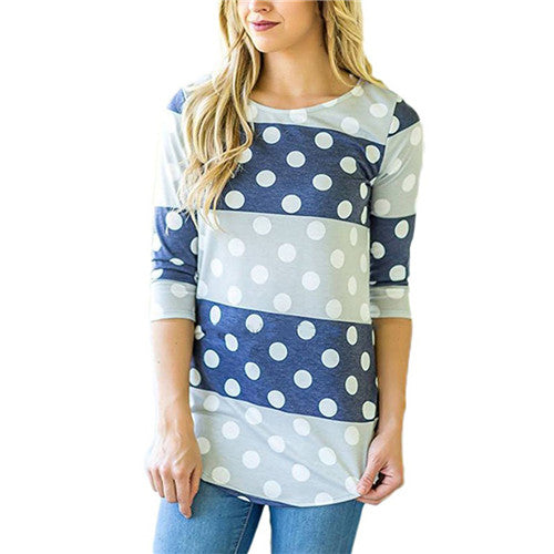 Fashion Women's Blouse Casual Floral Print Long Sleeve Blouses Autumn 3/4 Sleeve Shirt Tunic Tops Blusas Feminina