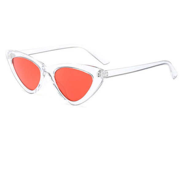 MOLNIYA cute sexy retro cat eye sunglasses women small black white triangle vintage cheap sun glasses red female uv400