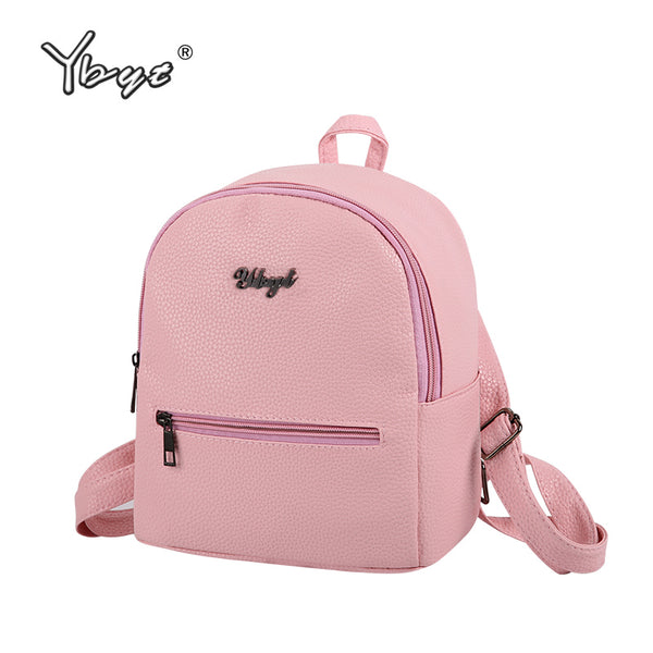 PU soft leather women casual small packet preppy style girls rucksacks female shopping bags ladies backpacks