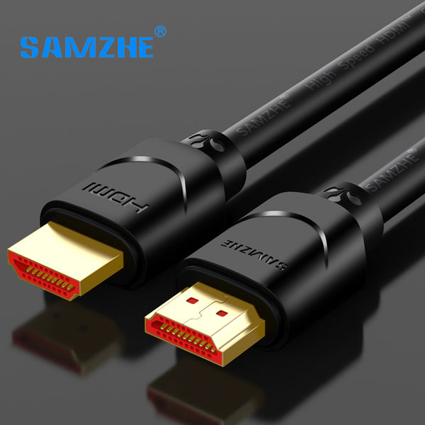 SAMZHE 4K HDMI2.0 Cable 1m/2m/3m Rac HDMI 2.0 Audio Splitter Cable  for TV Blue-Ray PS Roku PC Computer Projector Laptop