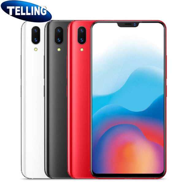 "Global Rom Vivo X21 Mobile Phone Android 8.1 4G LTE Octa Core 6.28"" 2280*1080 19:9 12MP AI Selfie Face Wake HiFi Support Google"