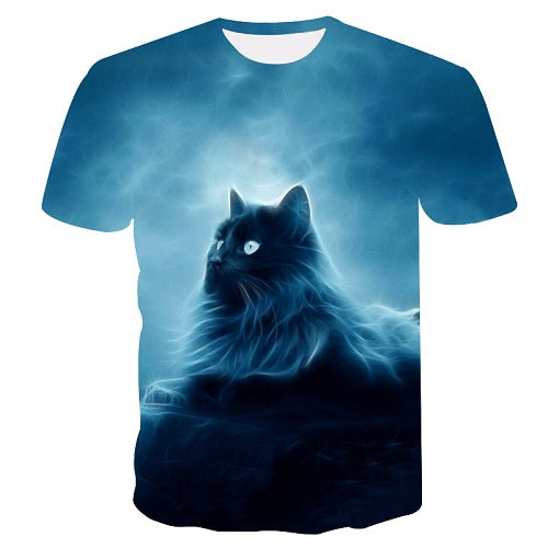 New Cool T-shirt Men/Women 3d Tshirt Print two cat Short Sleeve Summer Tops Tees T shirt Male M-5XL
