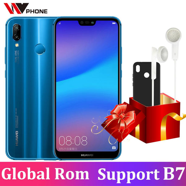 Huawei p20 lite (huawei Nova 3e) Global Firmware Face ID Mobile Phone Octa Core 5.84 inch android 8.0 full screen Fingerprint