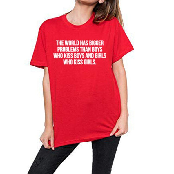 tee shirt women t shirt the world has bigger problems than boys girls Girlslove LGBT t-shirt Lesbian Gay homosexual Bisexuals
