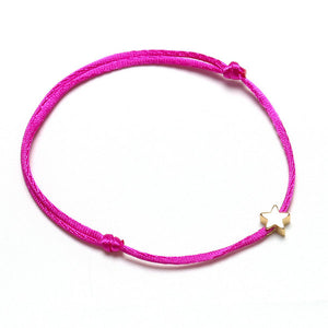 Star Red String Bracelet