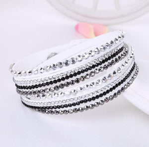 Rhinestone Crystal Bracelet Wrap Multilayer Bracelets