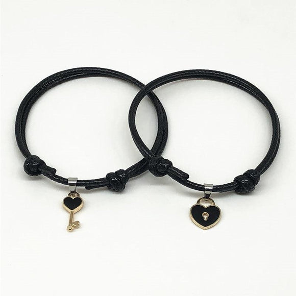 Alloy key Heart Lock Charm Bracelet