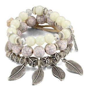 Boho Statement Leaves Bangle & Bracelet