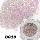 Full Beauty Holographic Diamond Platinum DIY Nail Flakes Dust Manicure Laser Silver Glitter Sequins Nail Art Decorations