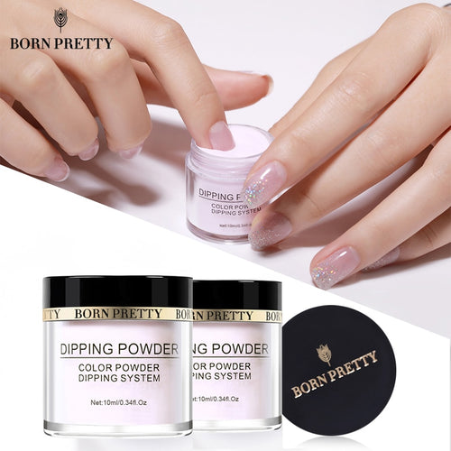 Dipping Nail Powders Gradient French Nail Natural Color Holographic Glitter Without Lamp Cure Nail Art Decorations