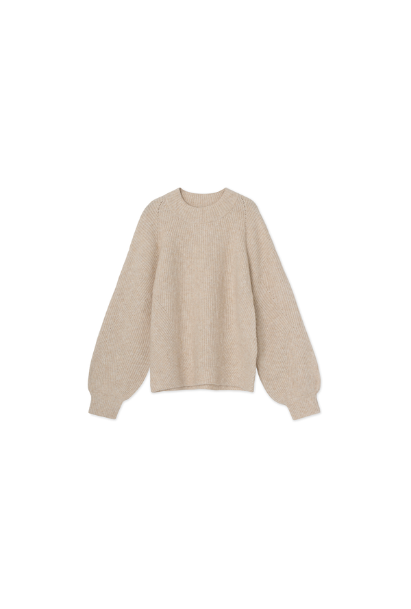 Linea Sweater - Camel Knit - Ecru