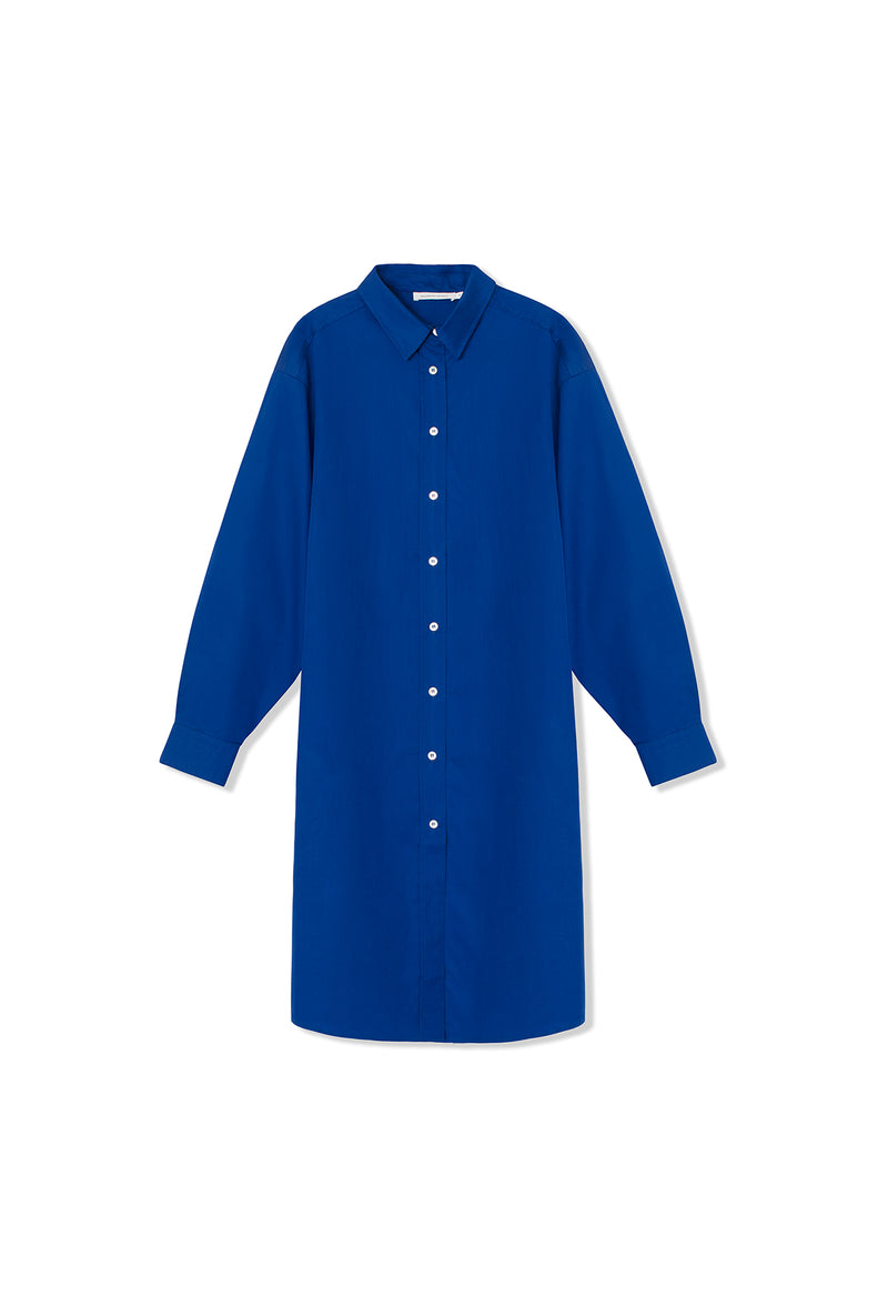 Jasmin Dress - Cotton - True Blue