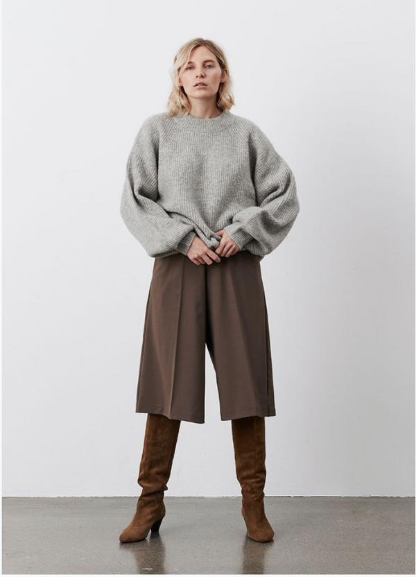Linea Sweater - Camel Knit - Silver Grey