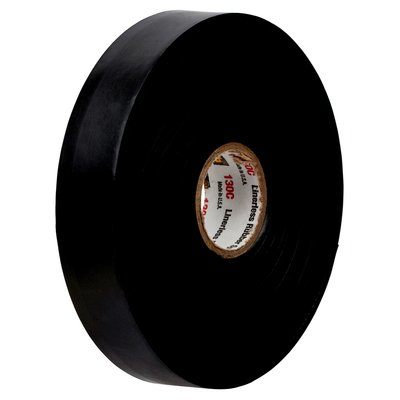 130C-1X15 Scotch Linerless Rubber Splicing Tape 130C Black 30 Mil (0.76 mm) 1 in x 15 Ft (25 mm x 4.6 m)