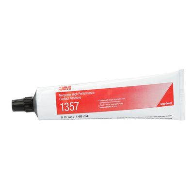 Contact Adhesives 3M 1357-TUBE-GRY Scotch-Weld Neoprene High Performance Contact Adhesive 1357 Green 5 Oz (147.87 ml) Tube