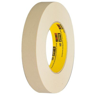 231-6X60 Scotch Paint Masking Tape 231/231A Tan 152.4 mm x 55 M