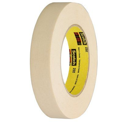 232-96X55 Scotch High Performance Masking Tape 232 Tan 96 MM X 55 M 8 Per Case Bulk 3M 7000124033