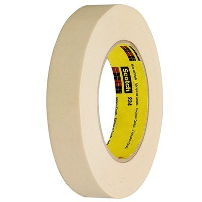 234-12X60 Scotch General Purpose Masking Tape 234 Tan 12 IN X 6 Yards 4 Per Case Bulk 3M 7000124188