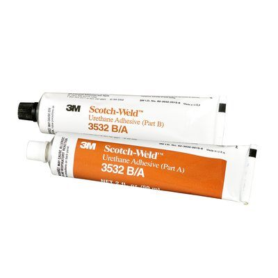 Urethane Adhesives 3M 3532-2OZ-KIT Scotch-Weld Urethane Adhesive 3532 Part B/A Brown 2 Fl Oz (60 ml) Kit