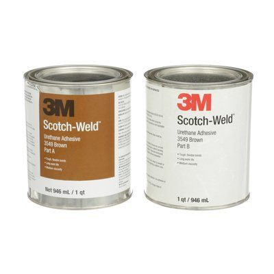 Urethane Adhesives 3M 3549-1QT-KIT Scotch-Weld Urethane Adhesive 3549 Part B/A Brown 1 Qt (0.95 L) 6 Ki