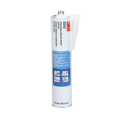 Sealants 3M 550-CART-GRY Polyurethane Adhesive Sealant Fast Cure 550 Grey 10.5 Oz (310.53 ml) Cartridge
