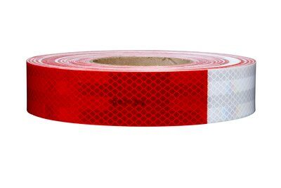Safety Tapes 3M 983-326-2X50(KC12) Diamond Grade Conspicuity Markings 983-326 Red/White Kiss-Cut 2 Inch x 50yds