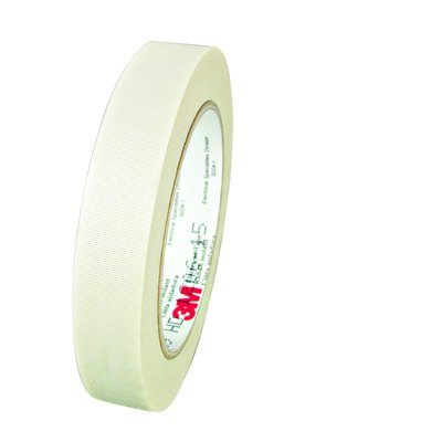 Electrical Tapes 3M 69-1/2X36-1IN-BX Scotch 6 Glass Cloth Electrical Tape White 1/2 Inchx 36yds Silicone Thermosetting Adhesive 1 Inch Core