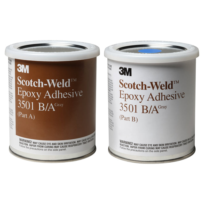 Epoxy 2 Part 3M 3501-1PT-KIT Scotch-Weld Epoxy Adhesive 3501 Part B/A Grey 237 ml Kit