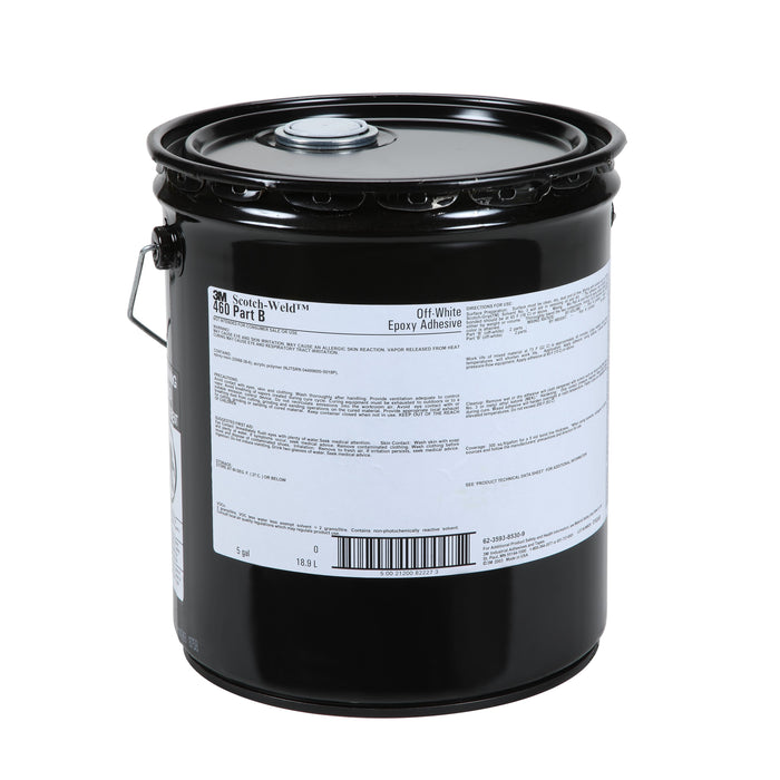 Epoxy Part B 3M DP460-B-5GAL-BLK Scotch-Weld Epoxy Adhesive 460 Part B Black 19 L