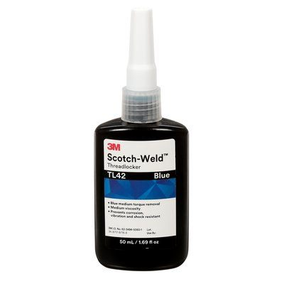 Threadlockers 3M TL42-50 Scotch-Weld Threadlocker Tl42 Blue 1.69 Fl Oz (50 ml) Bottle 10 Bottl