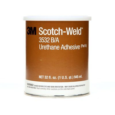 Urethane Adhesives 3M 3532-1QT-KIT Scotch-Weld Urethane Adhesive 3532 Part B/A Brown 1 Qt (0.95 L) Kit
