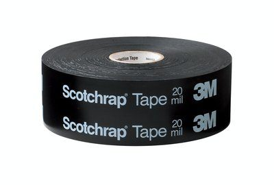 51-1X100-UN Scotchrap 51 All-Weather Corrosion Protection Tape Unprinted Black 20 Mil 1 in x 100 Ft