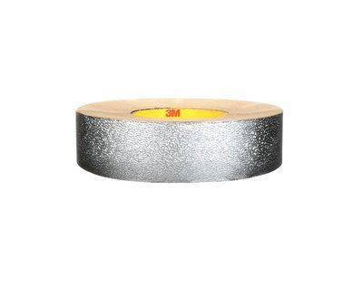 Insulation Jacketing Tapes 3M 1577CW-E-FD029 VentureClad Insulation Jacketing Tape 1577CW-E Embossed Natural Aluminum 4 Inch x 50yds . (10.2 cm x 45.7m)
