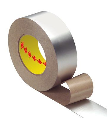 Insulation Jacketing Tapes 3M 1577CW-4X50 VentureClad Insulation Jacketing Tape 1577CW Flat Natural Aluminum 4 Inch x 50yds . (10.2 cm x 45.7m)